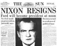 nixon resigns