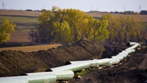Pipeline being laid in North Dakota