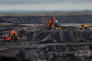 Strip mining to get tar sands oil