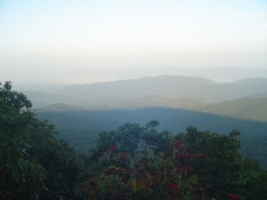 Sunrise at Hazletop Mountain, highest point on my hike