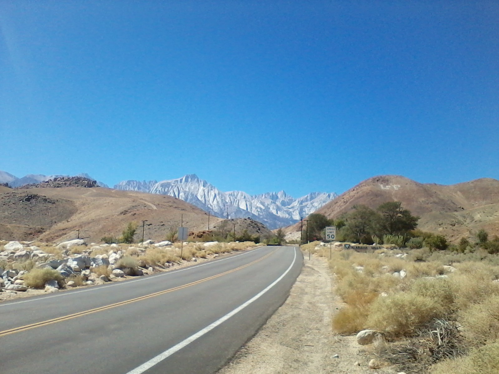 Mt. Whitney Portal road
