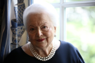 APTOPIX France Olivia de Havilland