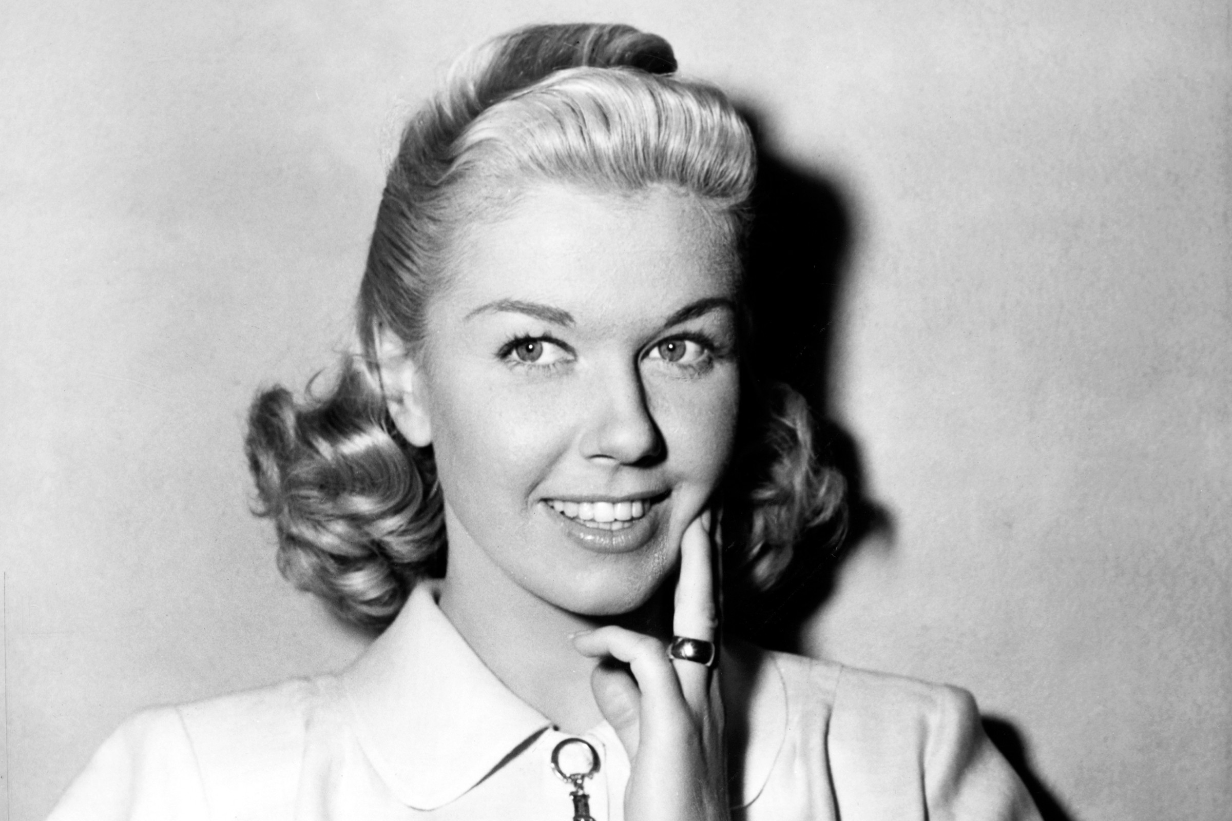 Doris Day Posing with Hand on Chin